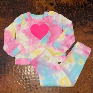 NWT Children's Place Heart Sweatsuit Outfit
